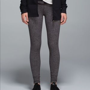 Lululemon Wunder Under Pant Herringbone Black